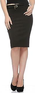 Fasnoya Women Solid Stretchable Skirt