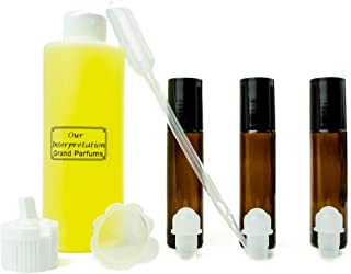 Grand Parfums Perfume Oil Set - Victor & Rolff Flowerbomb Type - Our Interpretation, with Roll On Bottles and Tools to Fill Them (1 Oz)