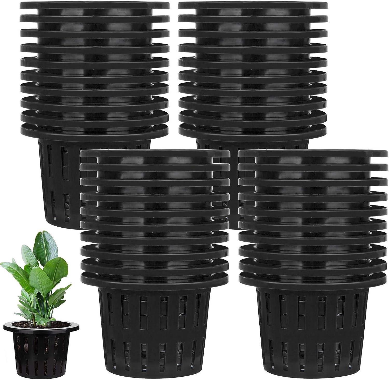 Weekly update Jucoan 40 Pack 4 Inch Net Slotted Cups Garden Pl Pots Mesh Brand Cheap Sale Venue