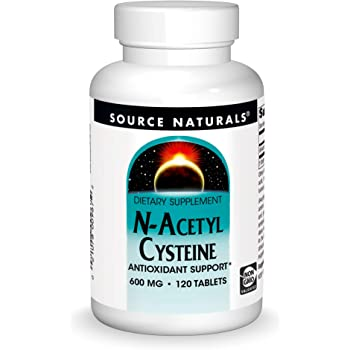 Source Naturals N-Acetyl Cysteine Antioxidant Support 600 mg Dietary Supplement That Supports Respiratory Health - 120 Tablets