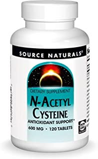 Source Naturals N-Acetyl Cysteine Antioxidant Support 600 mg Dietary Supplement That Supports Respiratory Health - 120 Tab...