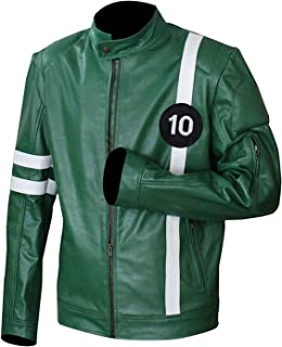Famous Character Green Faux Leather Jacket for Mens | Mens Faux Leather Jacket