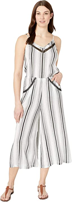 Venice Vibes Crop Wide-Leg Jumpsuit Cover-Up