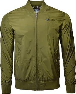 Lambretta Mens Lightweight MA1 Casual Long Sleeve Full Zip Bomber Jacket Coat