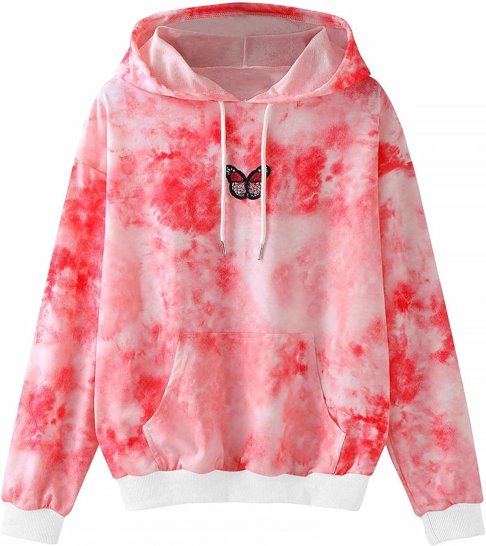 Sweatshirts for Women,Womens Sweatshirts Hoodie Pullover Plus Size Butterfly Graphic Long Sleeve Oversized Hoodies