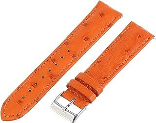 Swiss Watch International 20 MM Tangerine Genuine Ostrich Strap 20OS27M