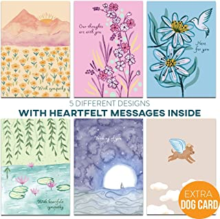 MPFY- Sympathy Cards, Pack of 16 with Envelopes, Luxury Storage Box, 6 Unique Designs, Pet Sympathy Card, Condolence Card, Sympathy Card, Sympathy Cards Assortment, Sympathy Cards Bulk, Sorry for Loss