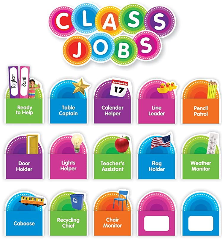 Color Your Classroom Class Jobs Bulletin Board