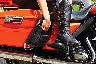 Kuryakyn 5289 Motorcycle Travel Luggage: Saddlebag Guard Storage Organizer Pouches for 1993-2019 Harley-Davidson Touring Motorcycles, Black, 1 Pair
