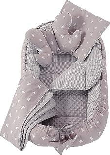 5 éléments Cocon de Bébé 90x50cm 100% Coton Baby Nest Medi Partners Reducteur de lit Bébés Oreiller Couverture Insert Amov...