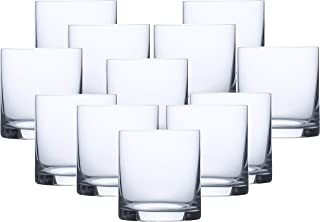 Circleware 04495/AM Soiree Double Old Fashioned Whiskey Glasses, Set of 12 Drinking Glassware for Water, Juice, Ice Tea, Beer, Wine and Liquor Beverages, 15 oz, Huge-12pc