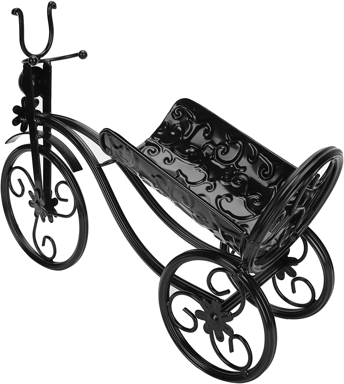 Fdit Tricycle Shape Iron 5% OFF Wine Rack Counter High order for Bar B Stand