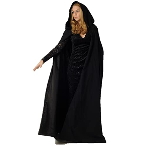3c0c8adc805 Ridge & Queens New Full Length Deluxe Velvet Cloak/Cape with Lined Hood for  Adults
