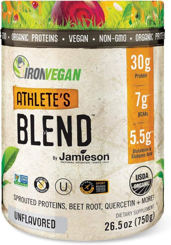 Iron Vegan Athlete's Blend Plant 送料無料限定セール中 Powder 人気ブランド by Based Jamieso Protein