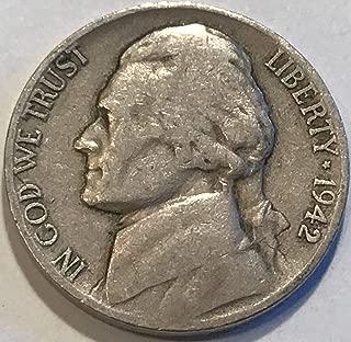 1942 D Jefferson Nickel Very Good