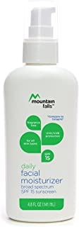 Mountain Falls Daily Facial Moisturizer Broad Spectrum UVA/UVB SPF 15 Sunscreen for All Skin Types, Fragrance Free, 4.8 Fl...