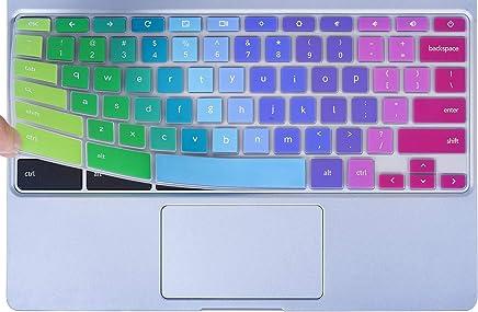 "Colorful Keyboard Cover for 2019/2018/2017 Samsung Chromebook 3 XE500C13 XE501C13 11.6 inch Chromebook / 11.6"" Samsung Chromebook 2 XE500C12 / Chromebook Plus V2 XE520QAB XE521QAB 12.2"", Rainbow"