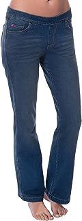 PajamaJeans - Petite Bootcut Stretch Knit Denim Jeans for...