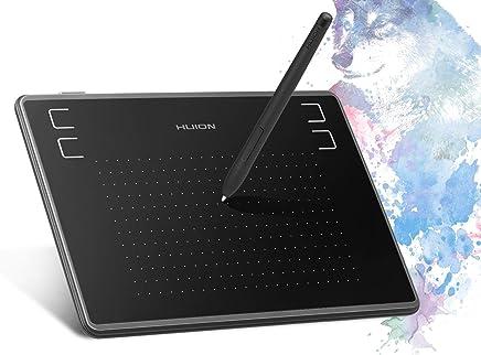 HUION Tableta de Dibujo con gráficos Inspiroy H430P de 4.8 x 3 Pulgadas con Pen sin batería Reconoce la presión del Pen con un Guante