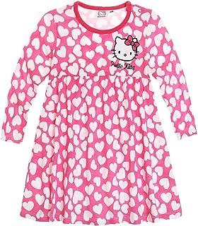 164d5a733482a Robe manches longues bébé fille Hello kitty Rose blanc de 3 à 24mois (18mois