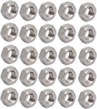 uxcell 20pcs M6 x 0.75mm Pitch Metric Fine Thread 304 Stainless Steel Hex Nuts