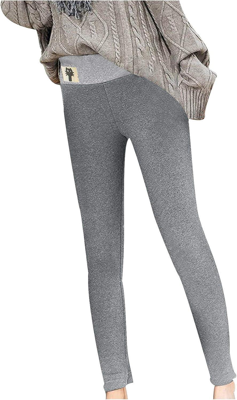 NREALY Women specialty shop Ladies High Waist Keep Quantity limited Long Casu Fashion Warm Pants