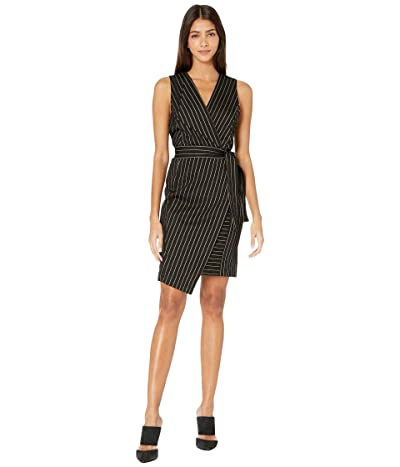 BCBGMAXAZRIA Knit Wrap Tie Dress (Black Combo) Women