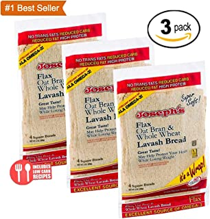 Value 3 Pack: Joseph's Lavash Bread Reduced Carb - 12 Square Breads