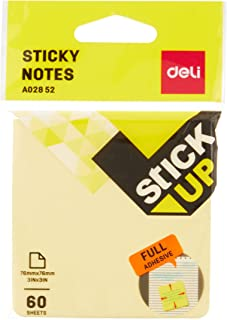 Deli EA02852 Full Adhesive Sticky Notes, 76 x 76mm (100 Piece)