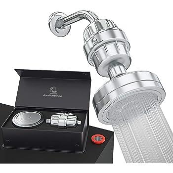 AquaHomeGroup Cabezal para Ducha con Filtro Agua Ducha de 15 Etapas de Lujo - Filtro de Agua para Ducha Elimina Cloro y Sustancias Peligrosas - Filtro para Alcachofa Ducha Alta Presion: Amazon.es:
