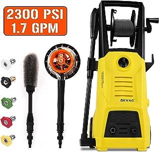 OKVAC Pressure Washer, Electric Power Washer, Pressure Cleaner Machine, Car Washer, 2300 PSI 1.76 GPM Electric Power Washer with Spray Gun, 30ft High Pressure Hose