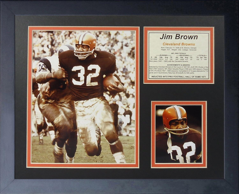 Legends Never Die Jim Brown Running Framed Photo Collage, 11 x 14Inch