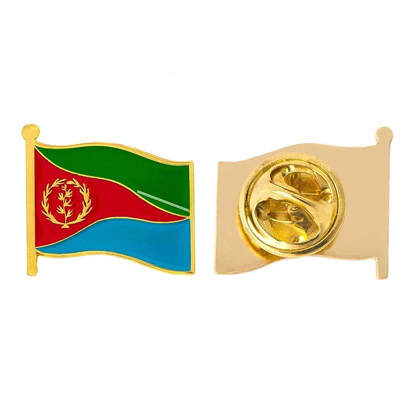 Eritrea Country Flag Lapel Pin Enamel Made of Metal Souvenir Hat Men Women Patriotic (Waving Flag Lapel Pin)