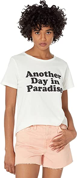 Another Day In Paradise Vintage Cotton Short Sleeve Tee