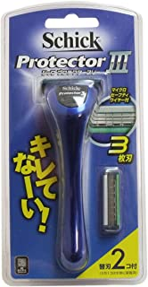 カミソリ用 替え刃 肌をシェービングのダメージから守る 使いやすい シック プロテクター3 ホルダー 本体+替刃2個付き【1個セット】