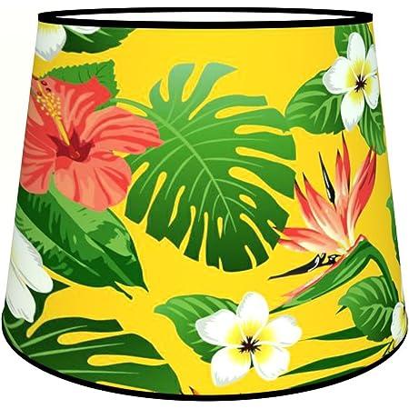 Abat-jours 7111306588147 Conique Illona Lampadaire, Tissus/PVC, Multicolore