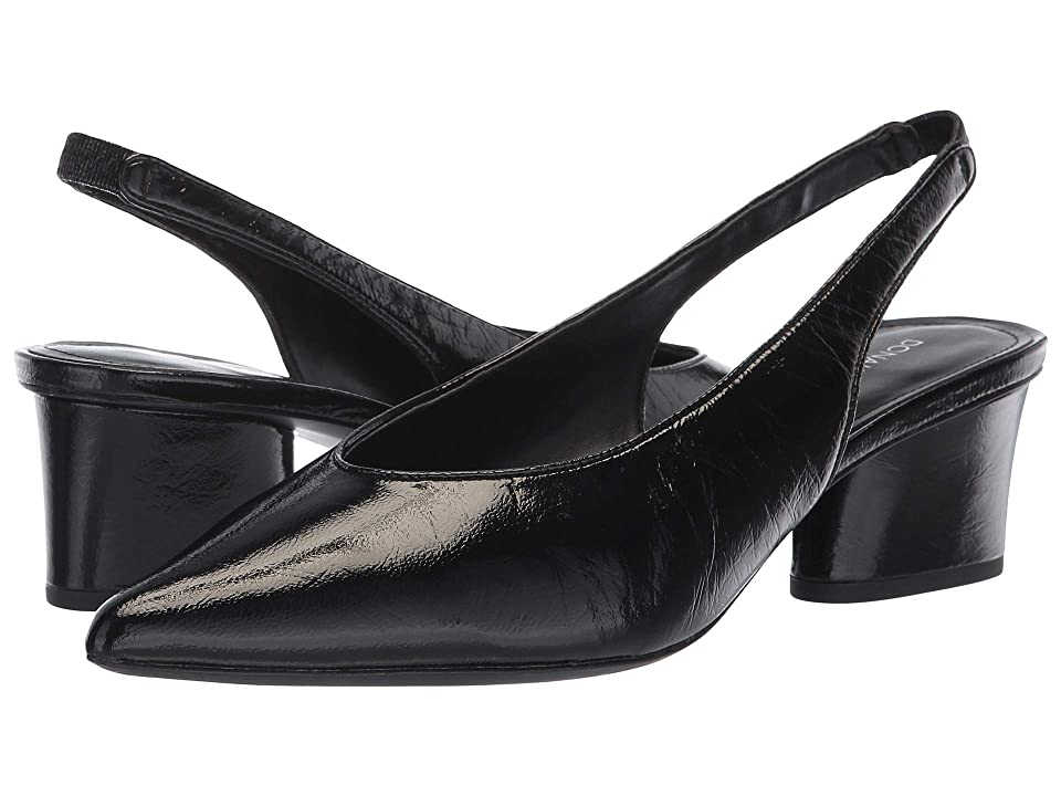 Donald J Pliner Gema (Black Distressed Patent) Women