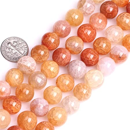 8 Strand Wholesale Beads Bulk Beads Rough Polished Jewelry Supplies for Jewelry Making Gemstone  Beads Natural Sunstone Beads