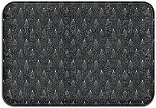 Black And White Dot Jellyfish Non-slip Doormat Floor Door Mat Indoor Outerdoor Bathroom 23.6 X 15.7 Inch