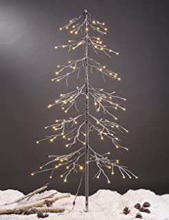 LIGHTSHARE Snowy Fir Tree, 144 LED Lights, for Indoor and Outdoor Use, Warm White, for Home Festival Party Christmas