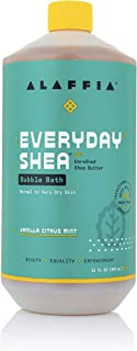 Alaffia EveryDay Shea Bubble Bath Vanilla Citrus Mint, 32 Oz | Soothing Support for Deep Relaxation and Soft Moisturized S...
