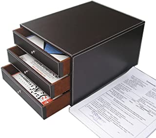 KINGFOM™ Module de classement 3 tiroirs A4 avec une Poignée