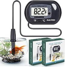 RISEPRO Aquarium Thermometer, 2 pack Digital Water Thermometer For Fish Tank Aquarium Marine Temperature Vivarium Reptile ...