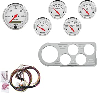 Auto Meter 7046-AW Artic White 5 Gauge Set MPH/OilP/Water/Volt/Fuel