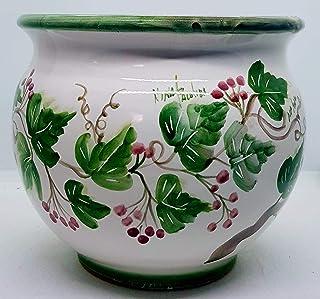 Cachepot Linea Classica Marrone diametro 22 x 21 Handmade Le Ceramiche del Castello Made in Italy