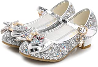 3f62007b9cffdb Waloka Flower Girls Dress Wedding Party Bridesmaids Heel Mary Jane Princess  Shoes