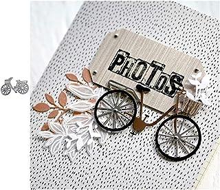 Lamta1k Matrice de découpe en forme de vélo pour scrapbooking, cartes en papier gaufrage, décoration de pochoir, outil de ...