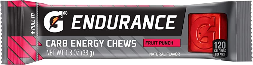 Gatorade Endurance Carb Energy Chews, Fruit Punch - 21 - 1.3 Ounce (Pack of 21)