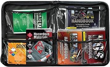 CMV/Hazmat Handbook Kit & Portfolio - Truck Driver Essential Reference Pack Includes CSA, ERG, FMCSR, Hazardous Materials,...