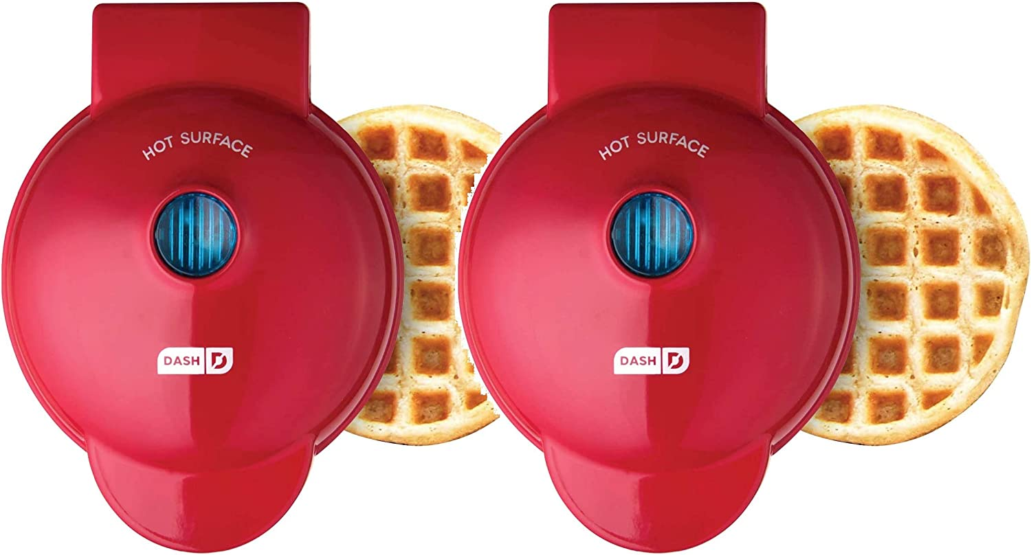 Dash DMW001RD Machine for Individual #.2 Pack Paninis /& other Mini waffle maker Red 4 inch Hash Browns